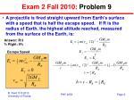 exam 2 fall 2010 problem 9