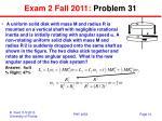 exam 2 fall 2011 problem 31