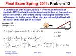 final exam spring 2011 problem 12