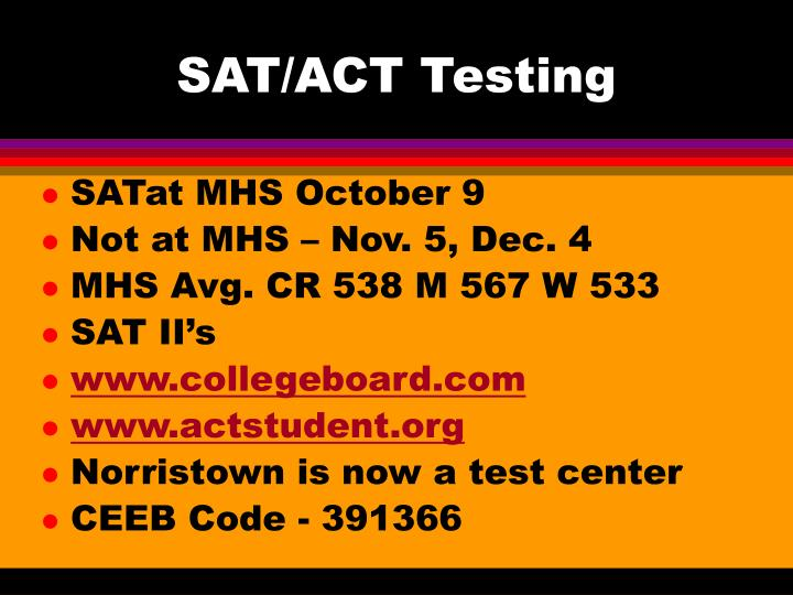 SAT/ACT Testing