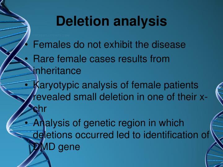 Deletion analysis
