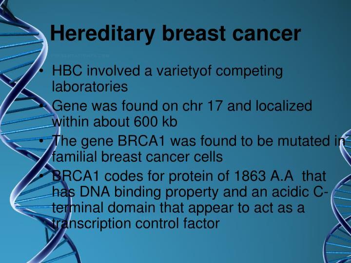 Hereditary breast cancer