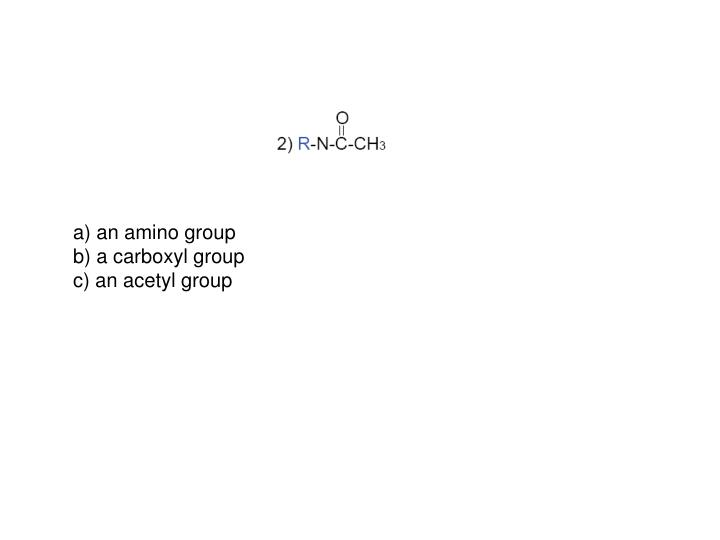 a) an amino group