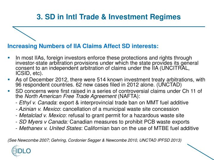 3. SD in Intl Trade & Investment Regimes