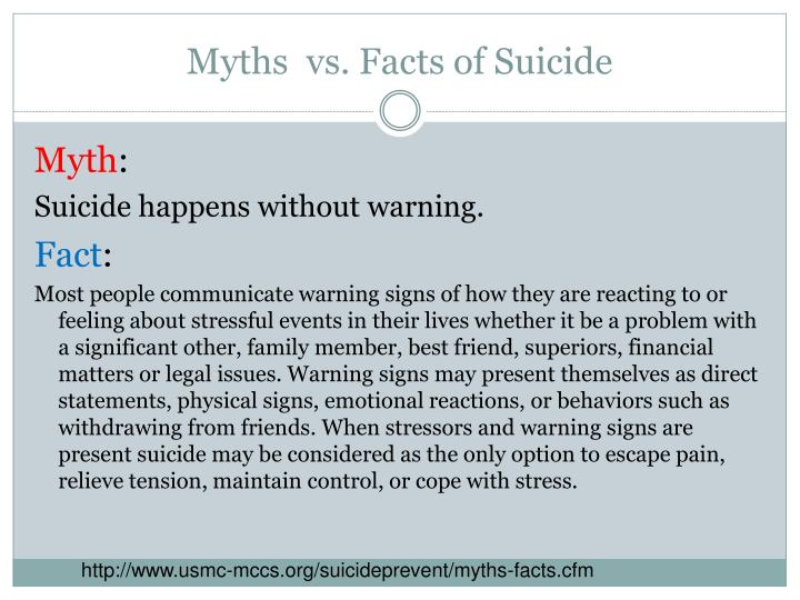 Myths vs facts of suicide1