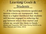 learning goals students