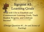 signpost 3 learning goals
