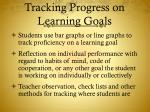 tracking progress on learning goals