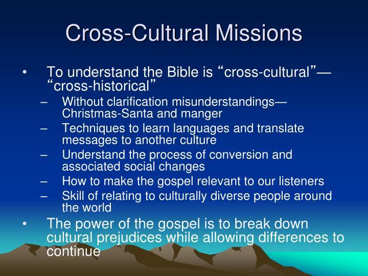 Cross-Cultural Missions