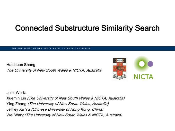 Connected substructure similarity search