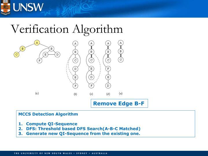 Verification Algorithm