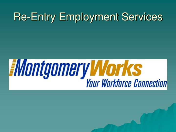Re-Entry Employment Services