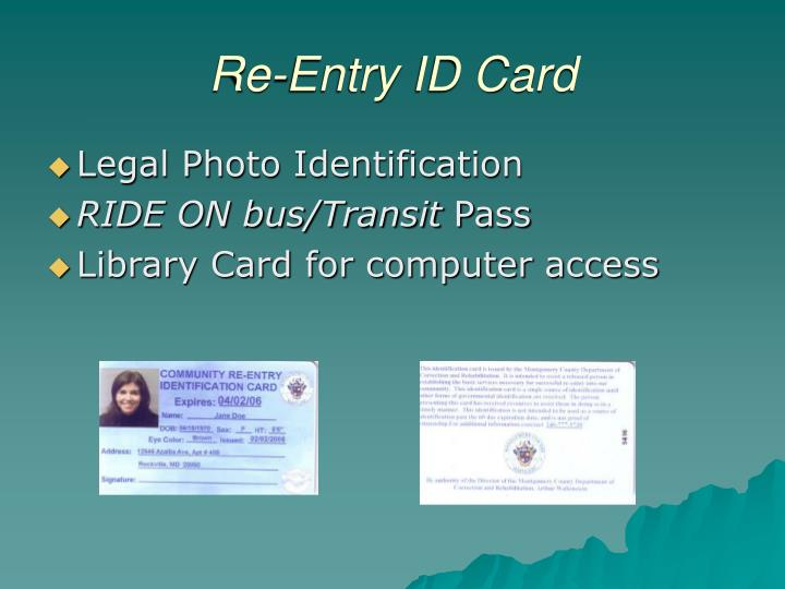 Re-Entry ID Card
