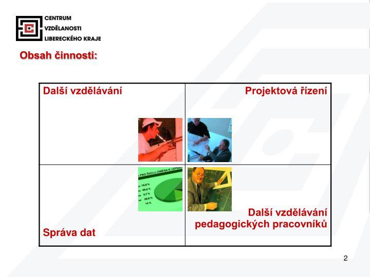 Obsah činnosti: