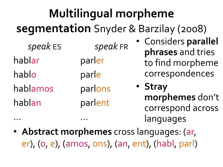 Multilingual morpheme