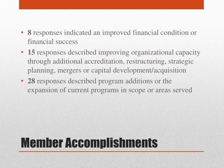 Member accomplishments