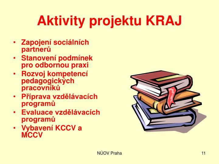 Aktivity projektu KRAJ