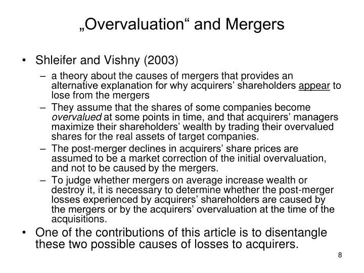 """Overvaluation"" and Mergers"