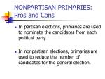 nonpartisan primaries pros and cons