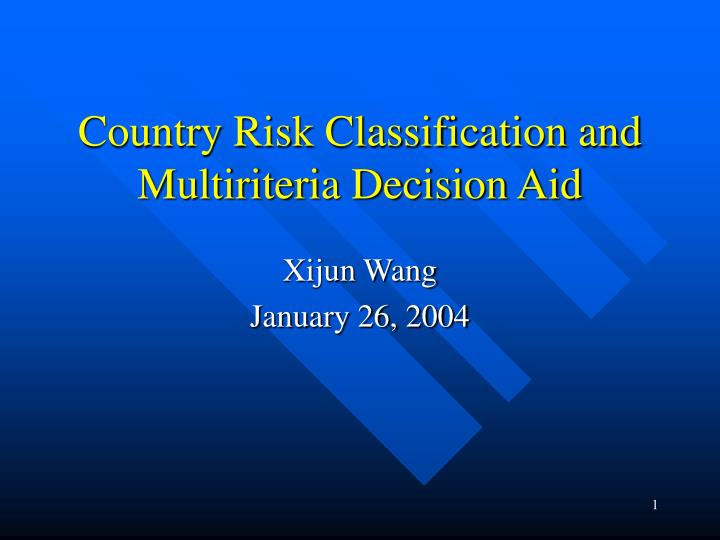 Country risk classification and multiriteria decision aid