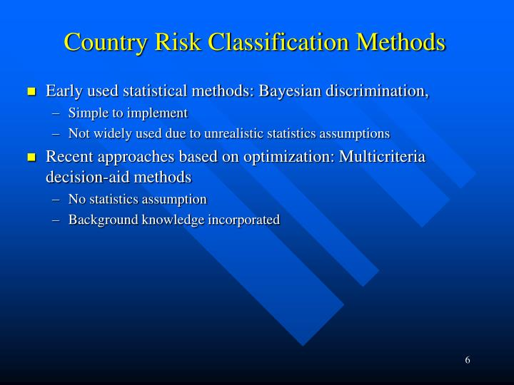 Country Risk Classification Methods