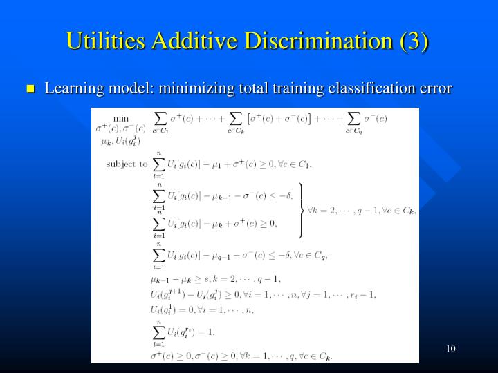 Utilities Additive Discrimination (3)