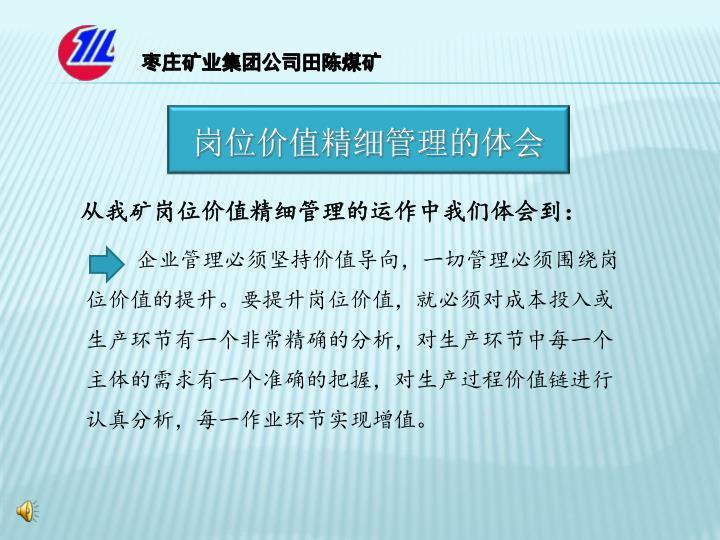 枣庄矿业集团公司田陈煤矿