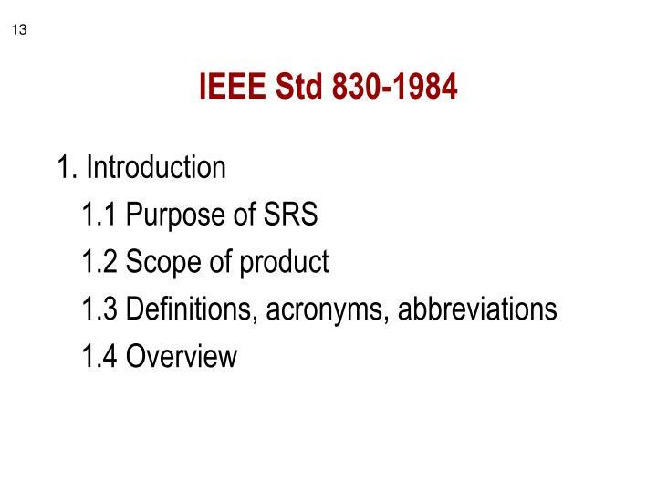 IEEE Std 830-1984