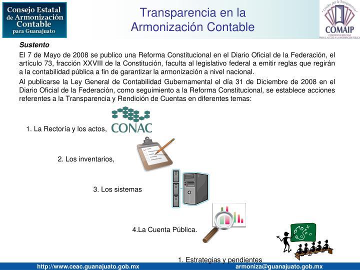 Transparencia en la armonizaci n contable