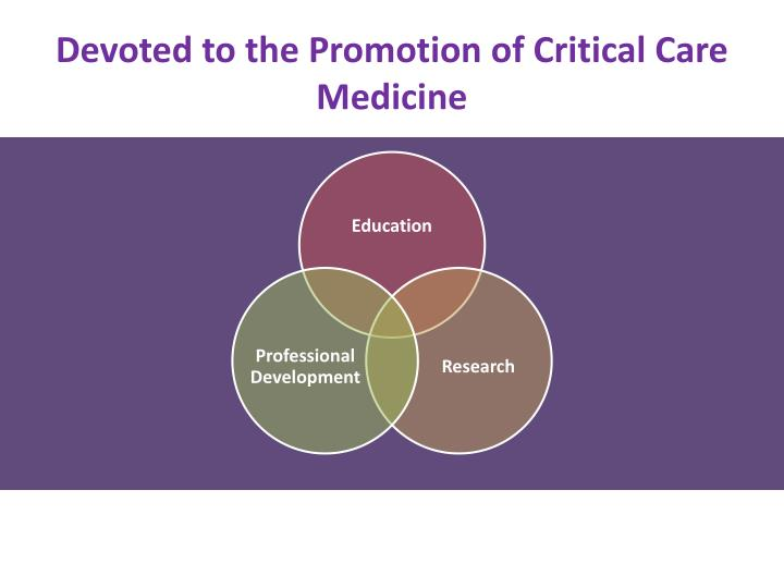 Devoted to the Promotion of Critical Care Medicine