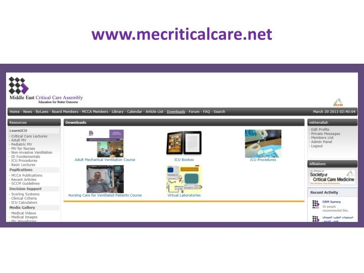 www.mecriticalcare.net