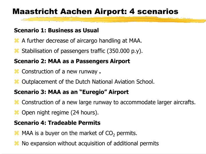 Maastricht Aachen Airport: 4 scenarios