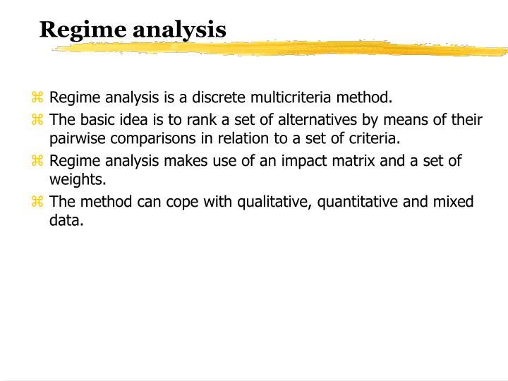 Regime analysis
