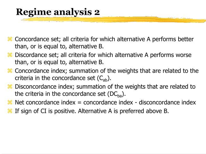 Regime analysis 2