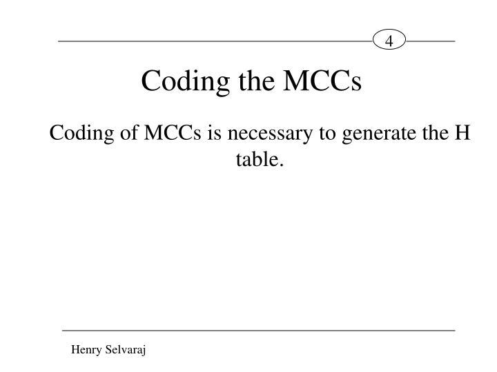 Coding the MCCs