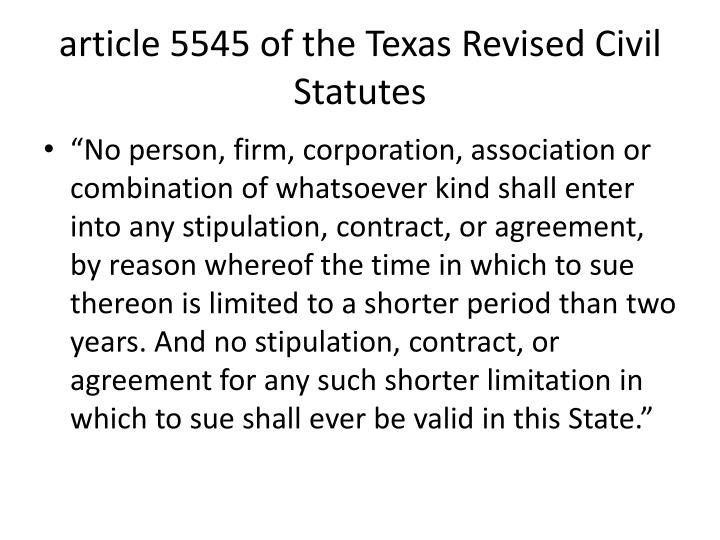 article 5545 of the Texas Revised Civil Statutes