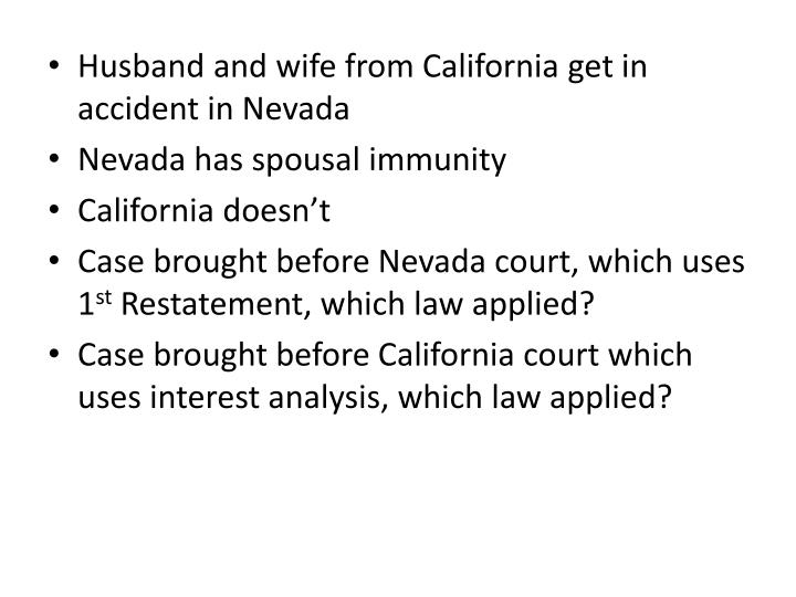 Husband and wife from California get in accident in Nevada