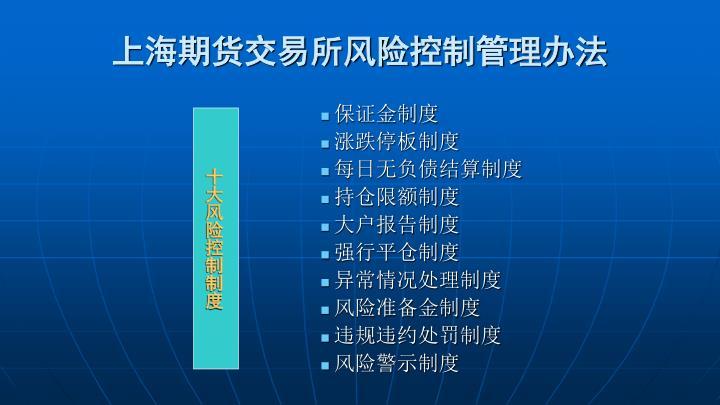 上海期货交易所风险控制管理办法