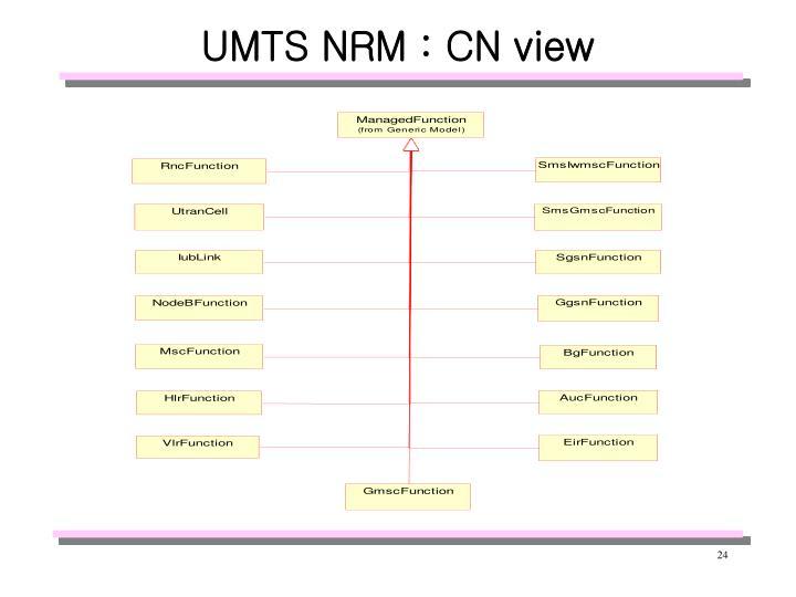 UMTS NRM : CN view