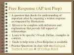 free response ap test prep
