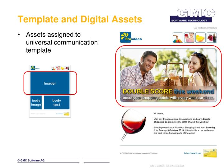 Template and Digital Assets