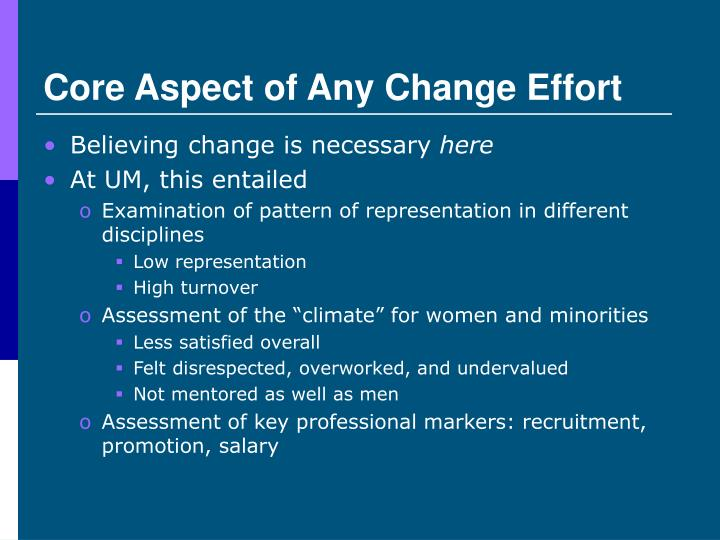 Core Aspect of Any Change Effort