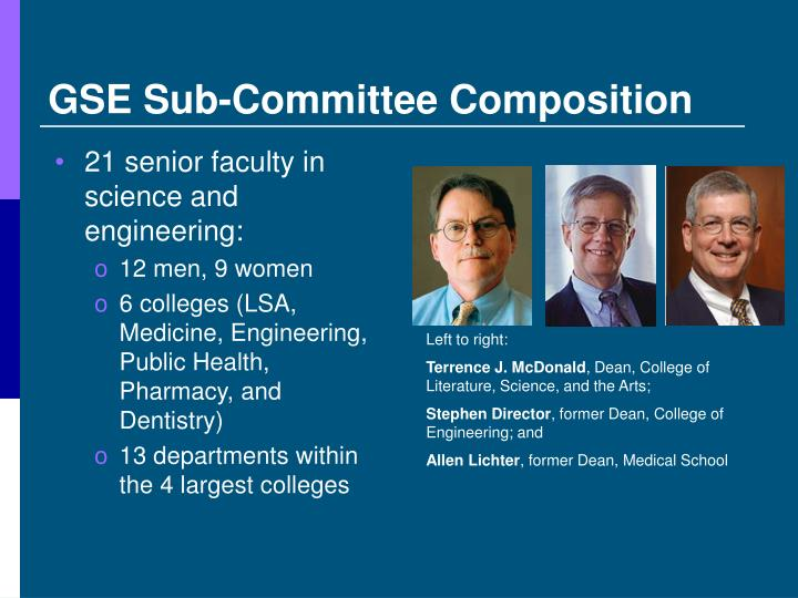 GSE Sub-Committee Composition
