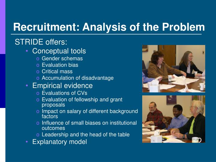 Recruitment: Analysis of the Problem