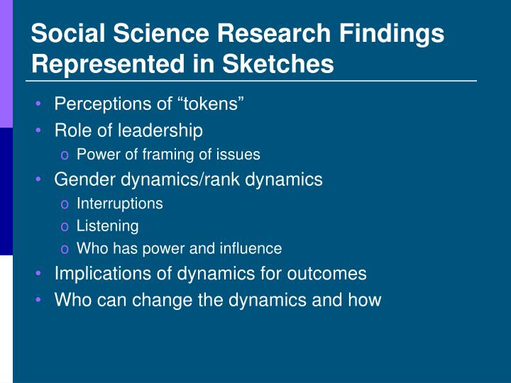 Social Science Research Findings Represented in Sketches