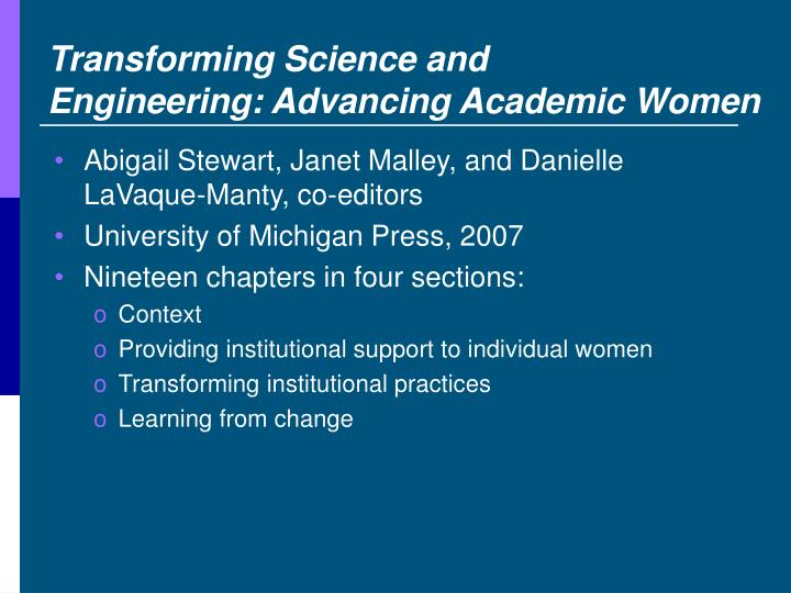 Transforming Science and