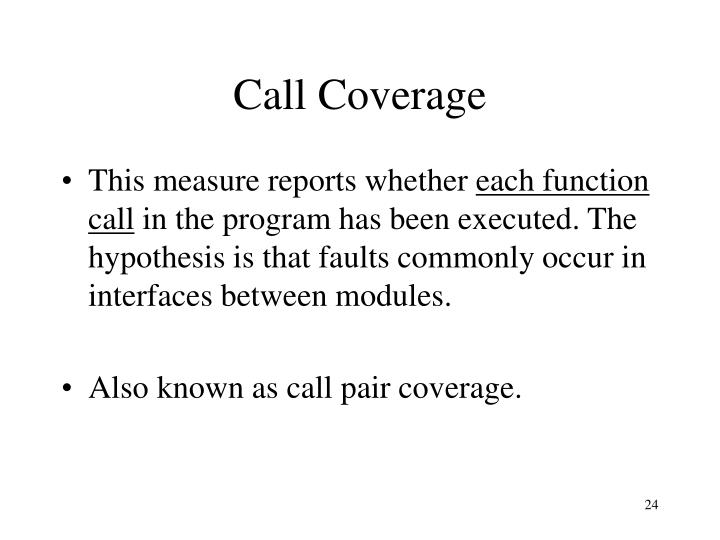 Call Coverage