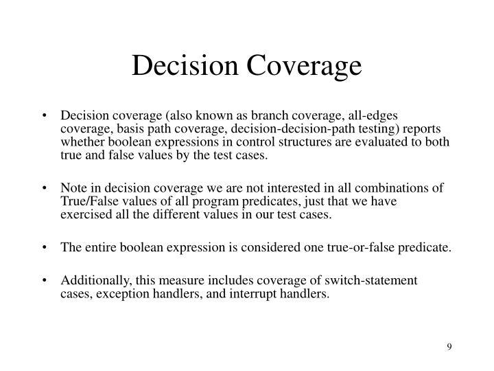 Decision Coverage