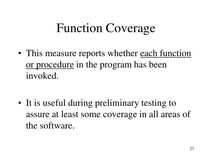 Function Coverage