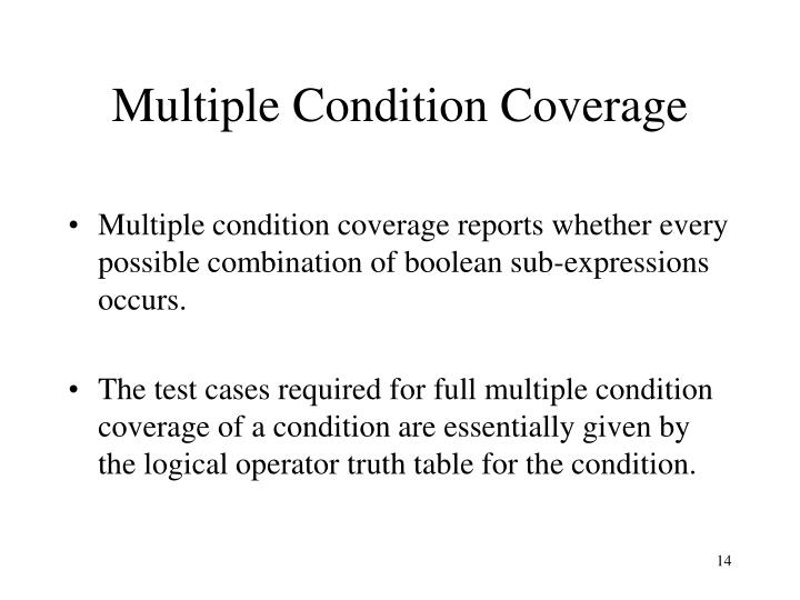 Multiple Condition Coverage